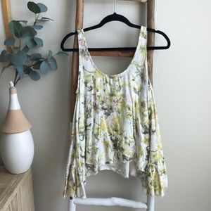 Urban Outfitters Insight Floral Flowy Tank Top